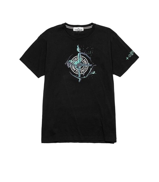 Stone Island - T-Shirt - TSHIRT LOGO FLOW NERA