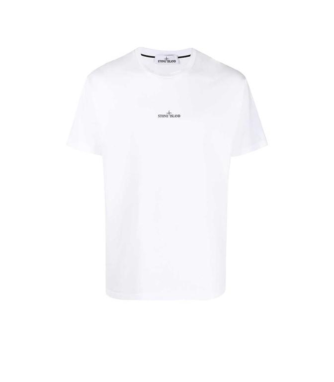 Stone Island - T-Shirt - TSHIRT MARBLE THREE BIANCA