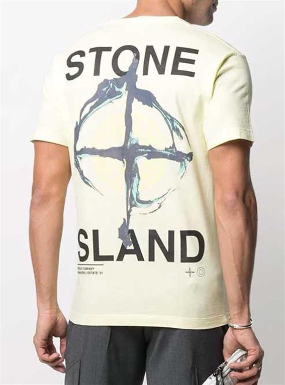 Stone Island - T-Shirt - tshirt marble three limone 1