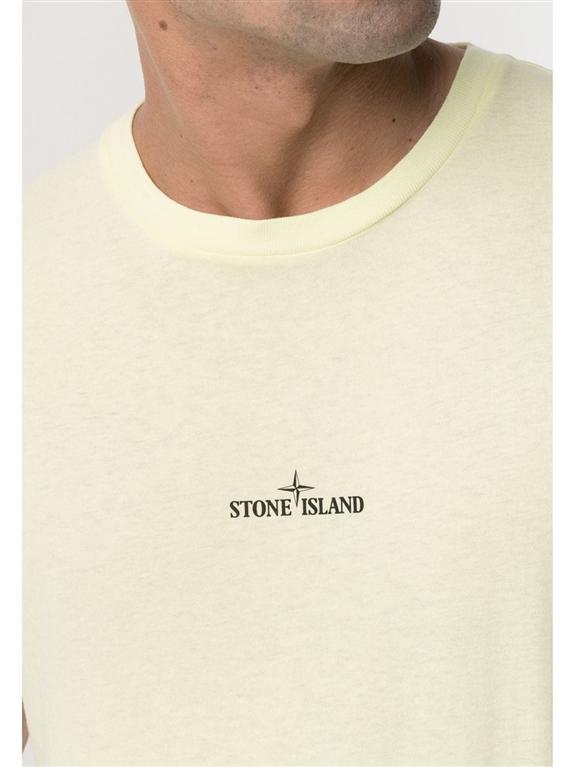 Stone Island - T-Shirt - tshirt marble three limone 2