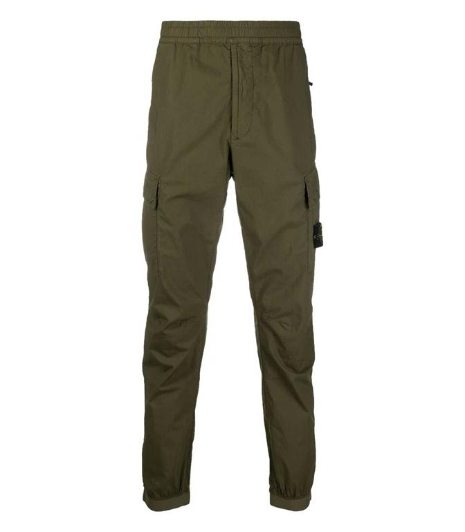 Stone Island - Pantaloni - pantalone cargo verde oliva