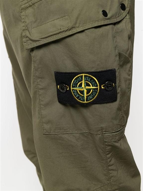 Stone Island - Pantaloni - pantalone cargo verde oliva 1