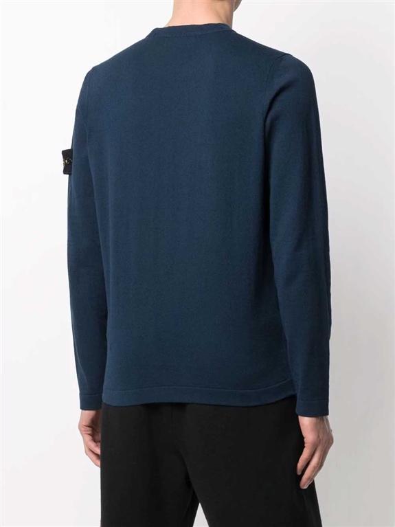 Stone Island - Maglie - maglia in cotone delavé blu 1