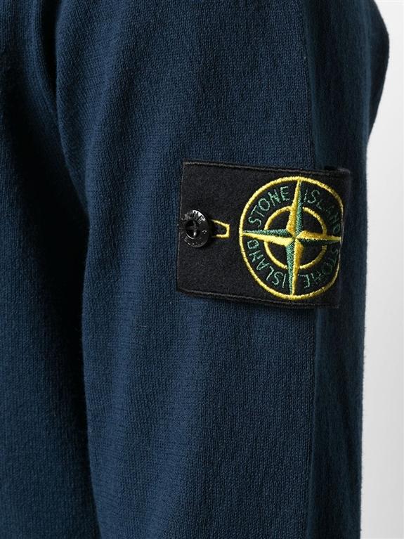 Stone Island - Maglie - maglia in cotone delavé blu 2