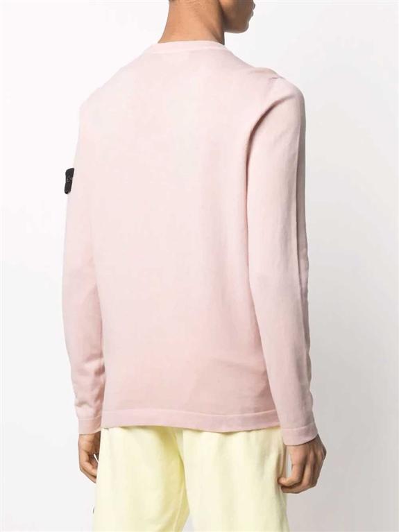 Stone Island - Maglie - maglia cotone crêpe rosa 1