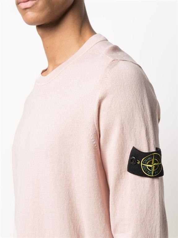 Stone Island - Maglie - maglia cotone crêpe rosa 2